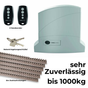 KingGates Dynamos bis 1000 kg 24 V Schiebetorantrieb Set