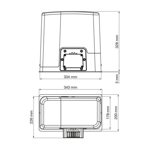 V2 Ayros 24V 500D-I bis 500 kg Schiebetorantrieb Set * 4