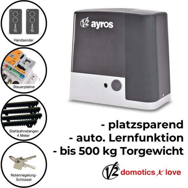 V2 Ayros 24V 500D-I bis 500 kg Schiebetorantrieb Set * 1