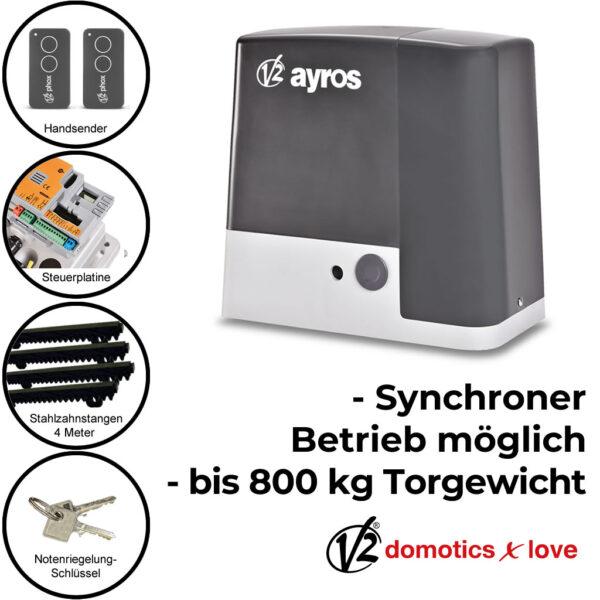 V2 Ayros 800D 230V bis 800 kg Schiebetorantrieb Set * 1