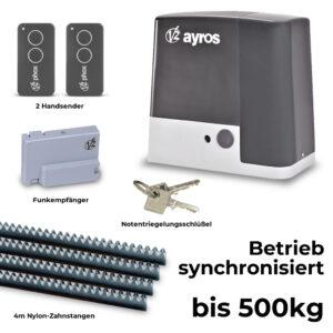 V2 Ayros 24V 500D-I bis 500 kg Schiebetorantrieb Set