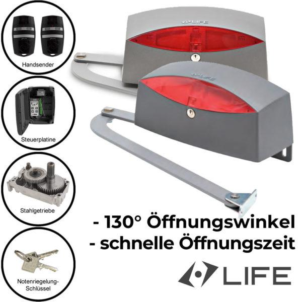 Life Sinuo 3 Drehtorantrieb mit Gelenkarm zweiflügelig bis 3 m 400 kg 1