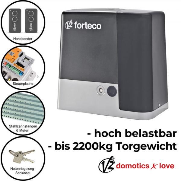 Schiebetorantrieb Set freitragend bis 2200 kg | V2 Forteco 2200 230 V 1
